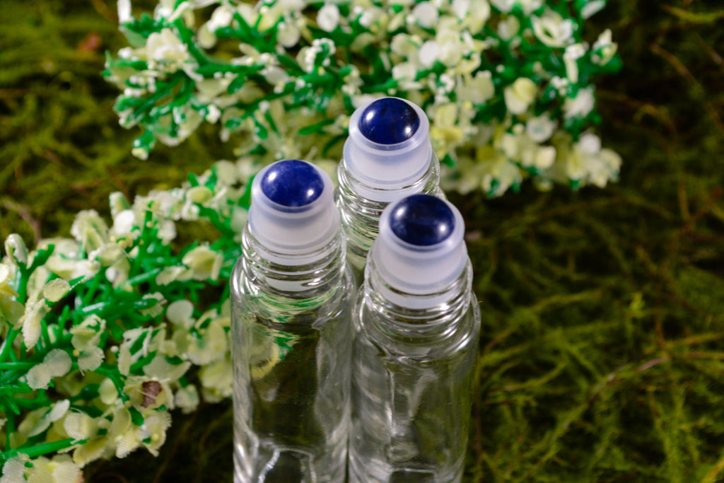 Sodalite Gemstone Roller Ball Perfume Bottles - Wild Witchery