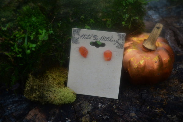 Carnelian Stud Earrings - Wild Witchery