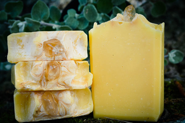 Citrine Soap-Crystal Soap-Crystal Bar Soap-Wild Witchery