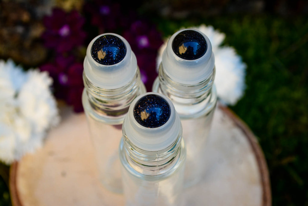 Blue Goldstone Roller Ball Perfume Bottle - Wild Witchery