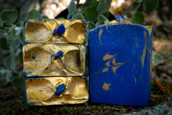 Lapis Lazuli-Lapis Lazuli Soap-Crystal Soap-crystal bar soap-Wild Witchery