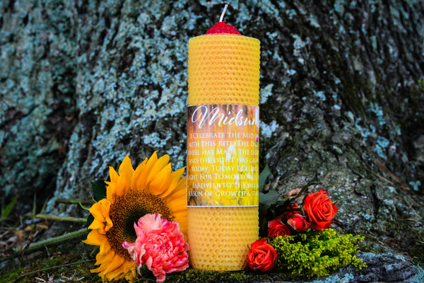 Summer Solstice Candle~For Honoring the Vitality of the Sun - Wild Witchery