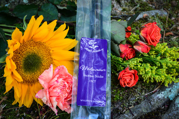 summer solstice-incense-midsummer-incense-litha incense-wild witchery