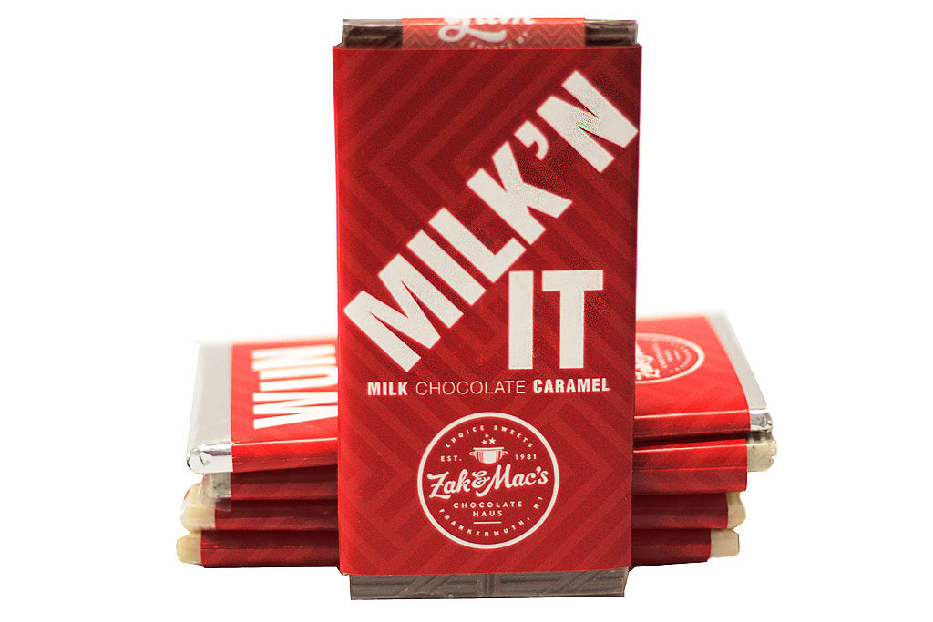 Milk Chocolate Caramel Zak Bars