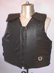 Black Leather Bull Rider Vest