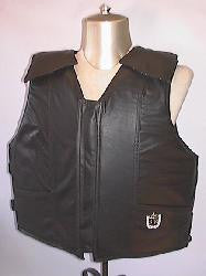 Black Leather Youth Bull Riding Vest