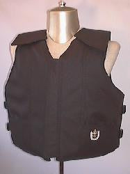 Black Polyduck Youth Bull Riding Vest