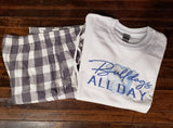 Bulldogs Pajama Set - Grey/White Check