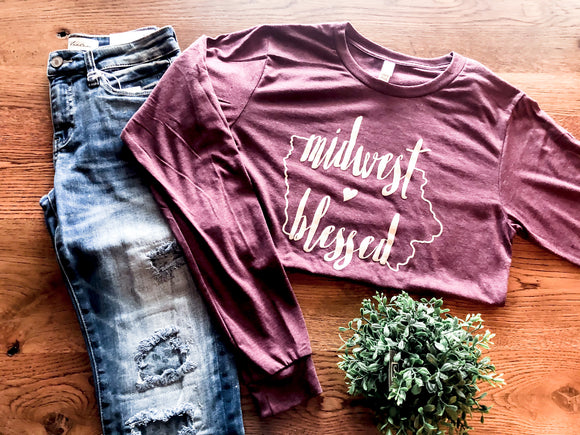 Midwest Blessed Long Sleeve Tee