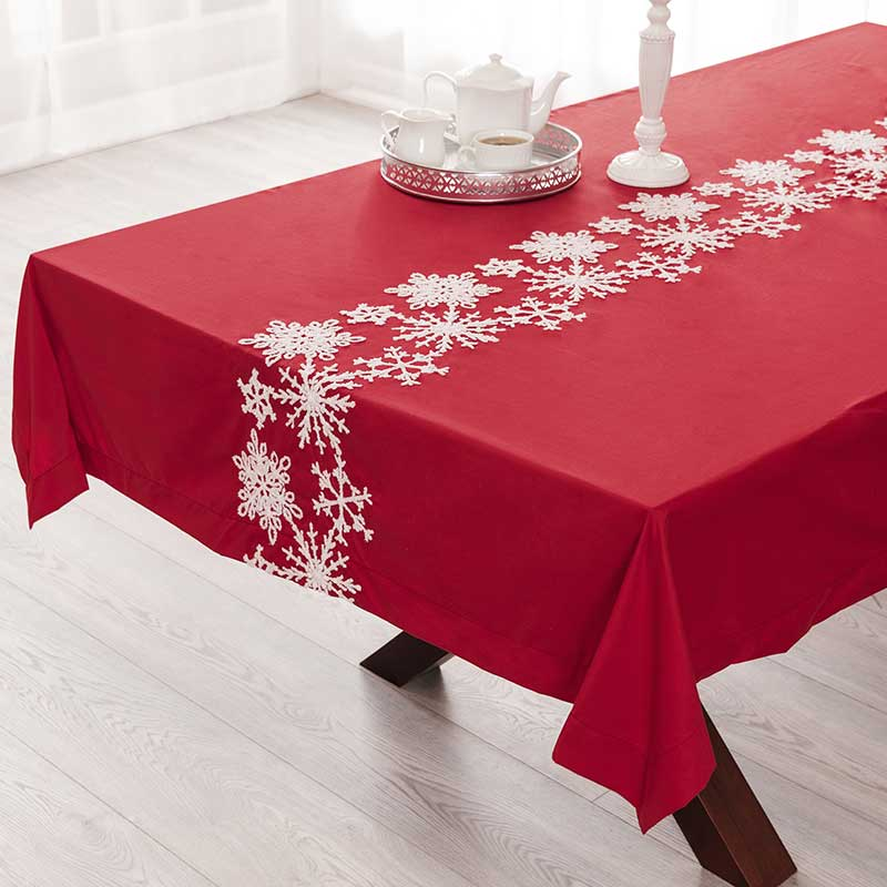 Snow Flakes Tablecloth