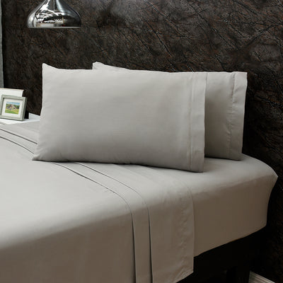 Gray Microfiber Sheet Set