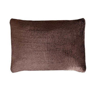 SHERPA PILLOW CASE  BROWN
