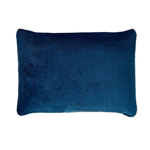 SHERPA PILLOW CASE  BLUE