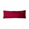 Wine Red Fleece Body Pillow