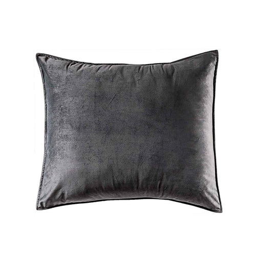Velvet Gray Pillow Cover, Guarantee*