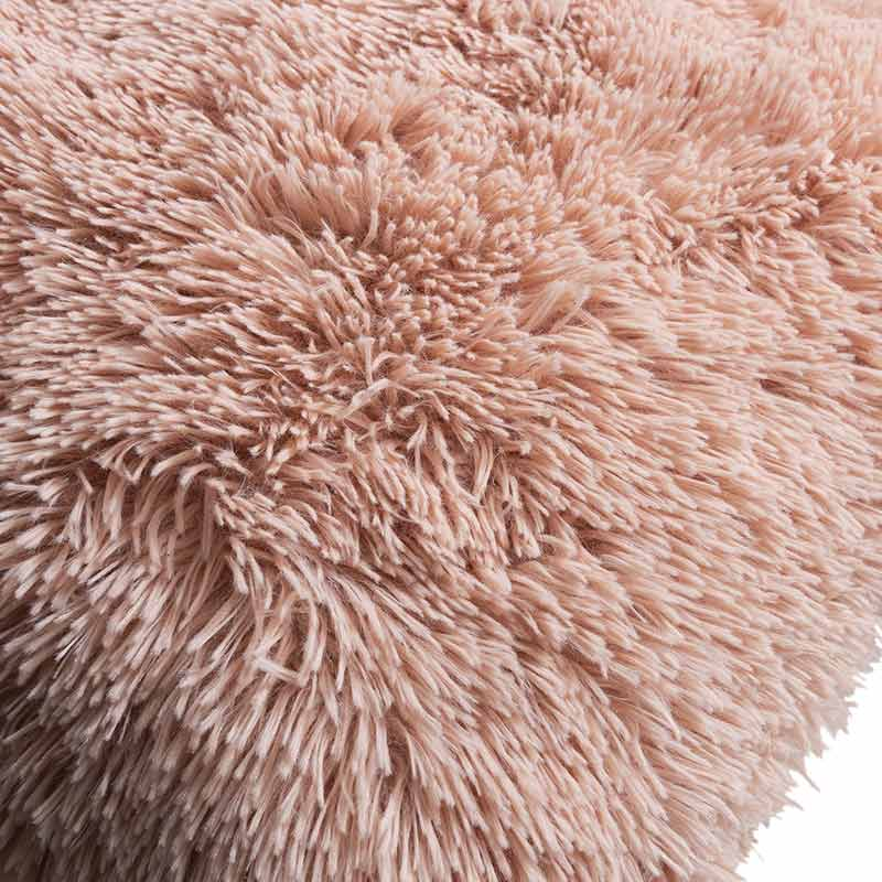 Soft pink Faux Fur Pillow