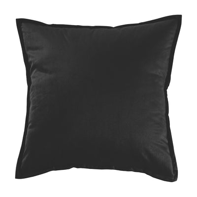 Black Velvet Throw Pillow Sham