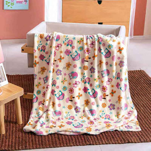 "Baby blanket ""Owls for a cute girl"" Guarantee*"