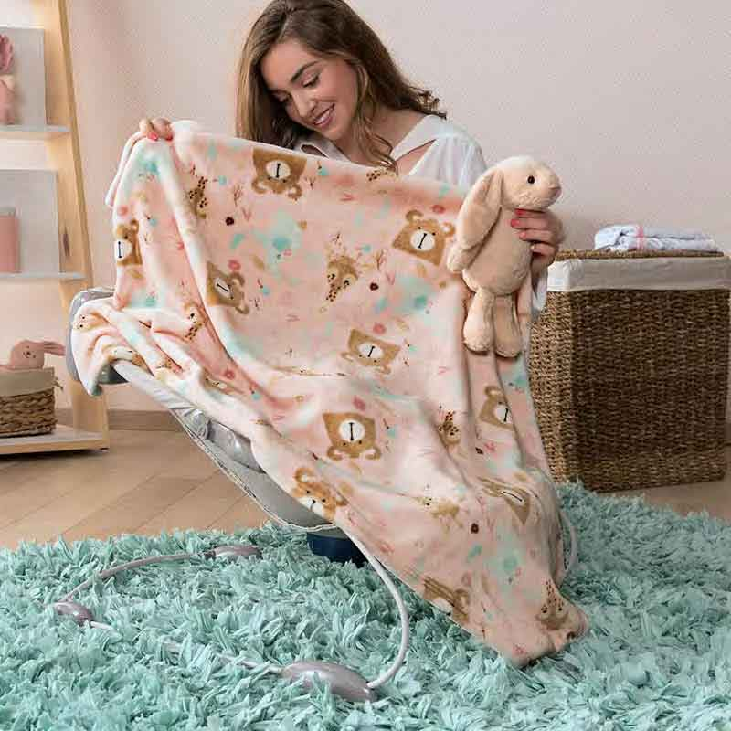 Pink Rabbit Fleece Baby Blanket , Guarantee*
