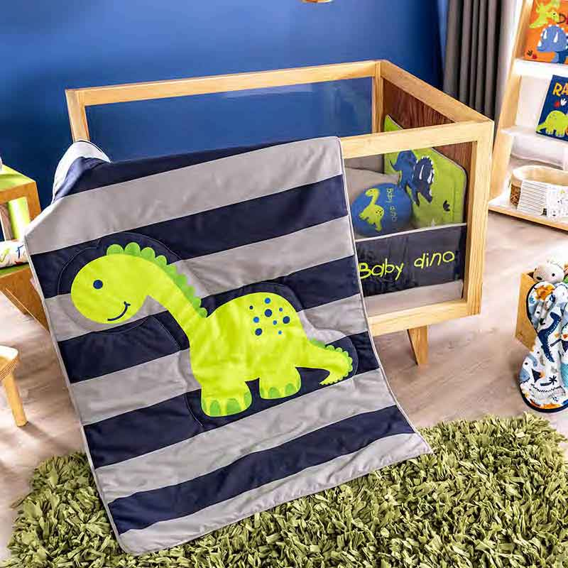 Baby Dinosaur Blue Crib Comforter Set Guarantee