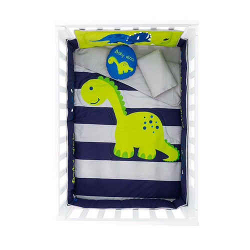 Baby dinosaur blue crib comforter set, Guarantee*