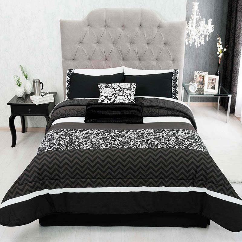 Black bedding set, Elegant & Reversible