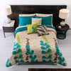 Floral Blue Bedding Set Beige & Turquoise Guarantee* Comforter Free Shipping
