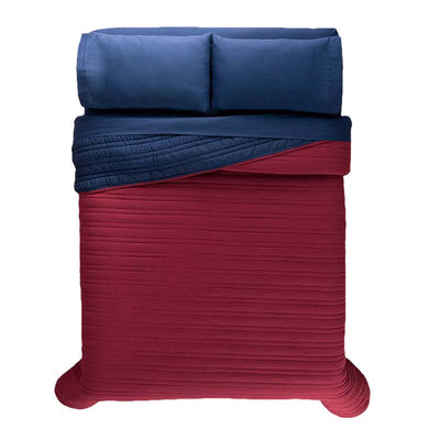 Wine Red Reversible Quilt