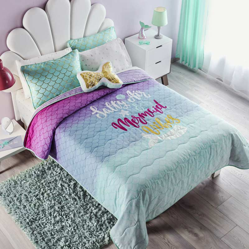 Mermaid Reversible Comforter Set