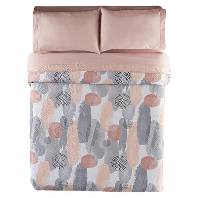Pink and Gray Watercolor Milan Reversible Quilt