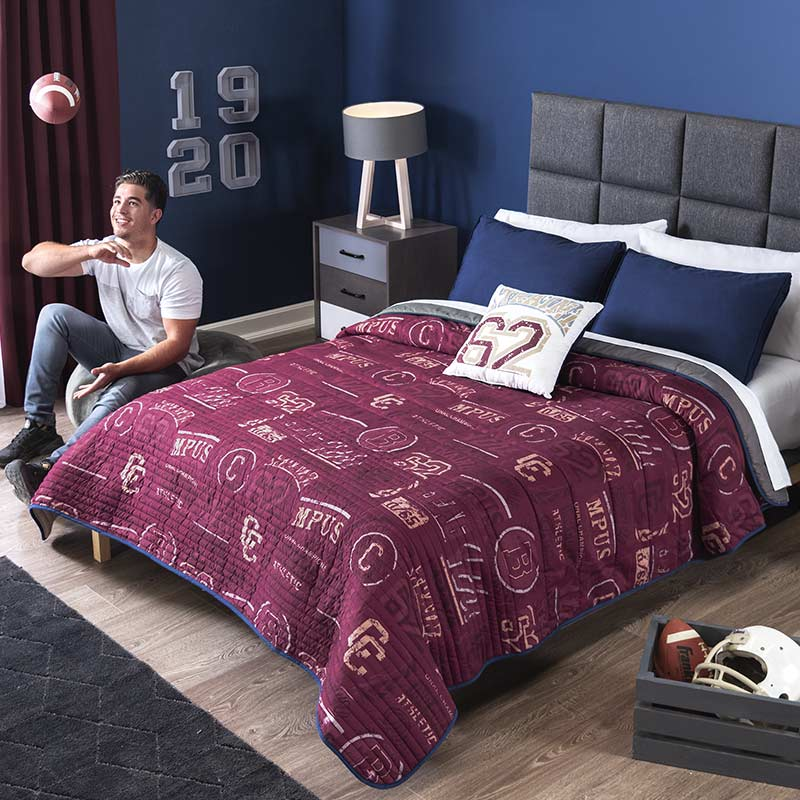 Varsity Team Reversible Comforter Set