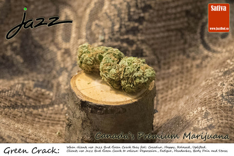 Green Crack -  Jazz Bud Sativa - Jazz Bud -Canada's Premium Brand of Online Marijuana - 1