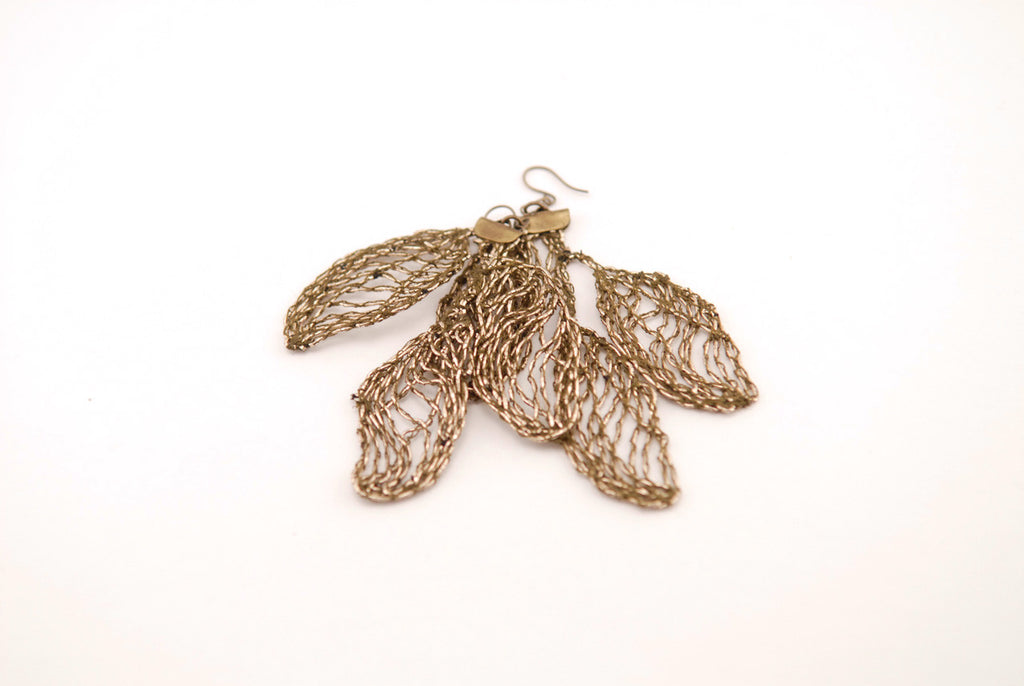 Organic Leaf Earrings
