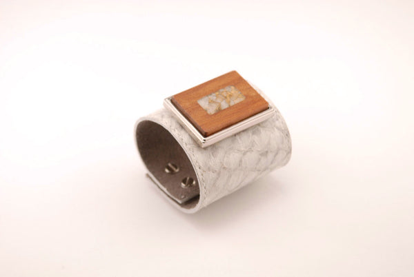 Eco Fishskin Leather Cuff