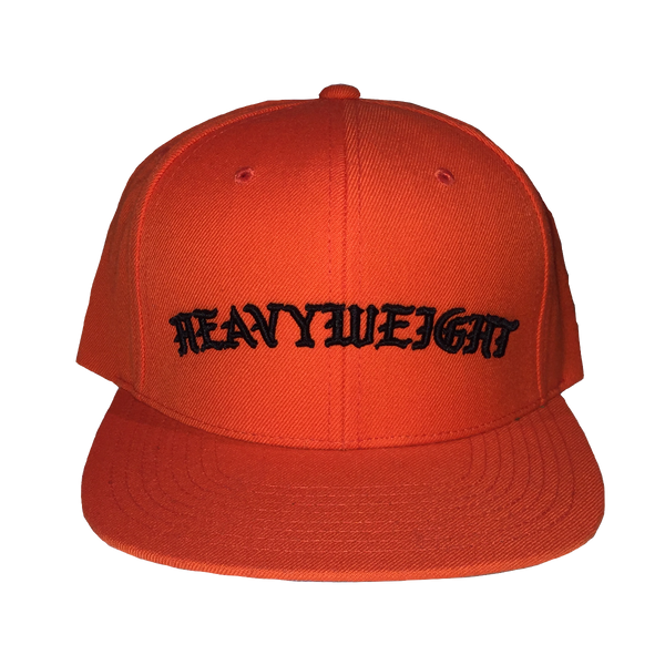 OLD ENGLISH SNAPBACK (ORANGE-BLACK)