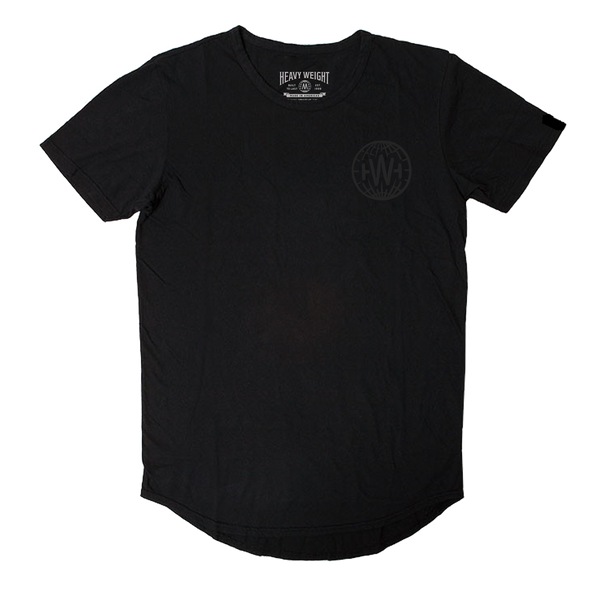 GLOBE SCOOP TEE (BLACK)