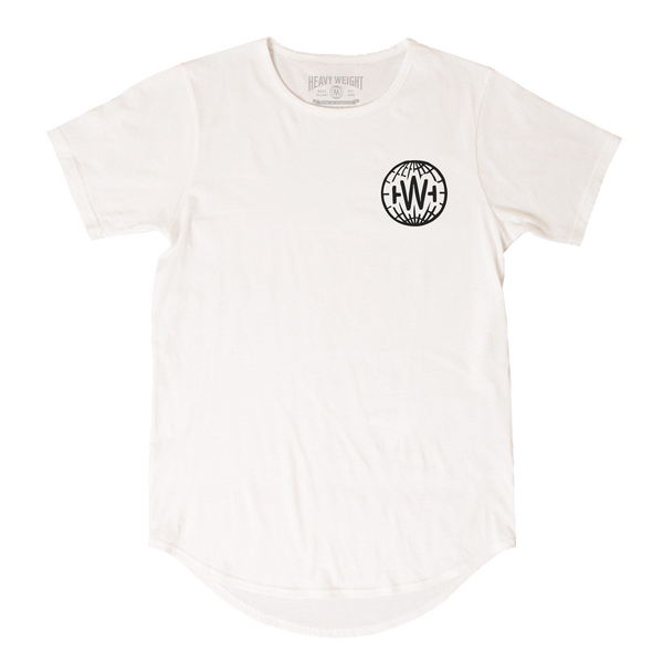 GLOBE SCOOP TEE (WHITE)