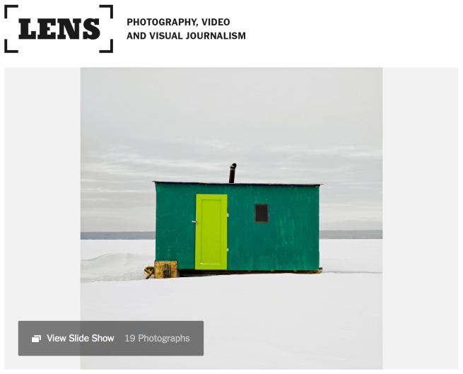 New York Times - Ice Huts | Richard Johnson
