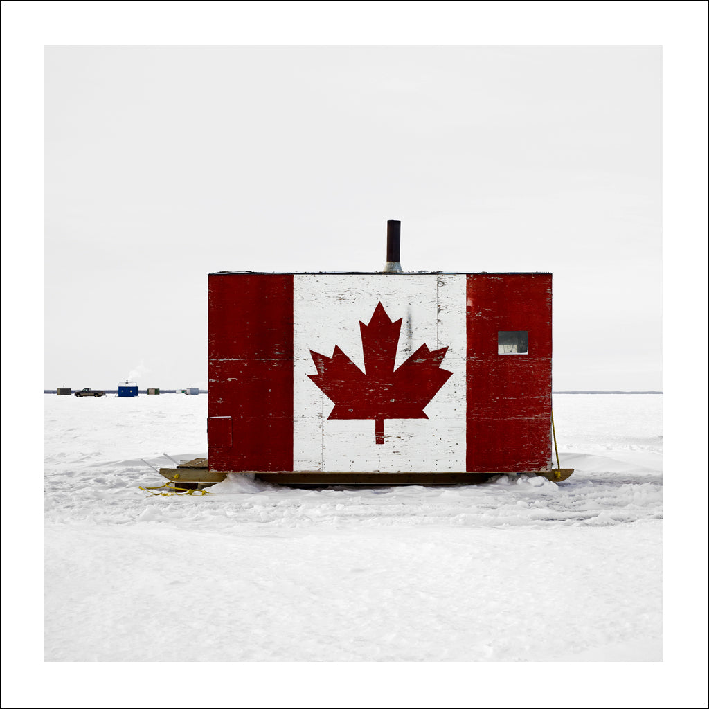 Ice Hut # 530, Joussard, Lesser Slave Lake, Alberta, Canada, 2011 | © 2007-2017 Richard Johnson Photography Inc. | richardjohnsongallery.com
