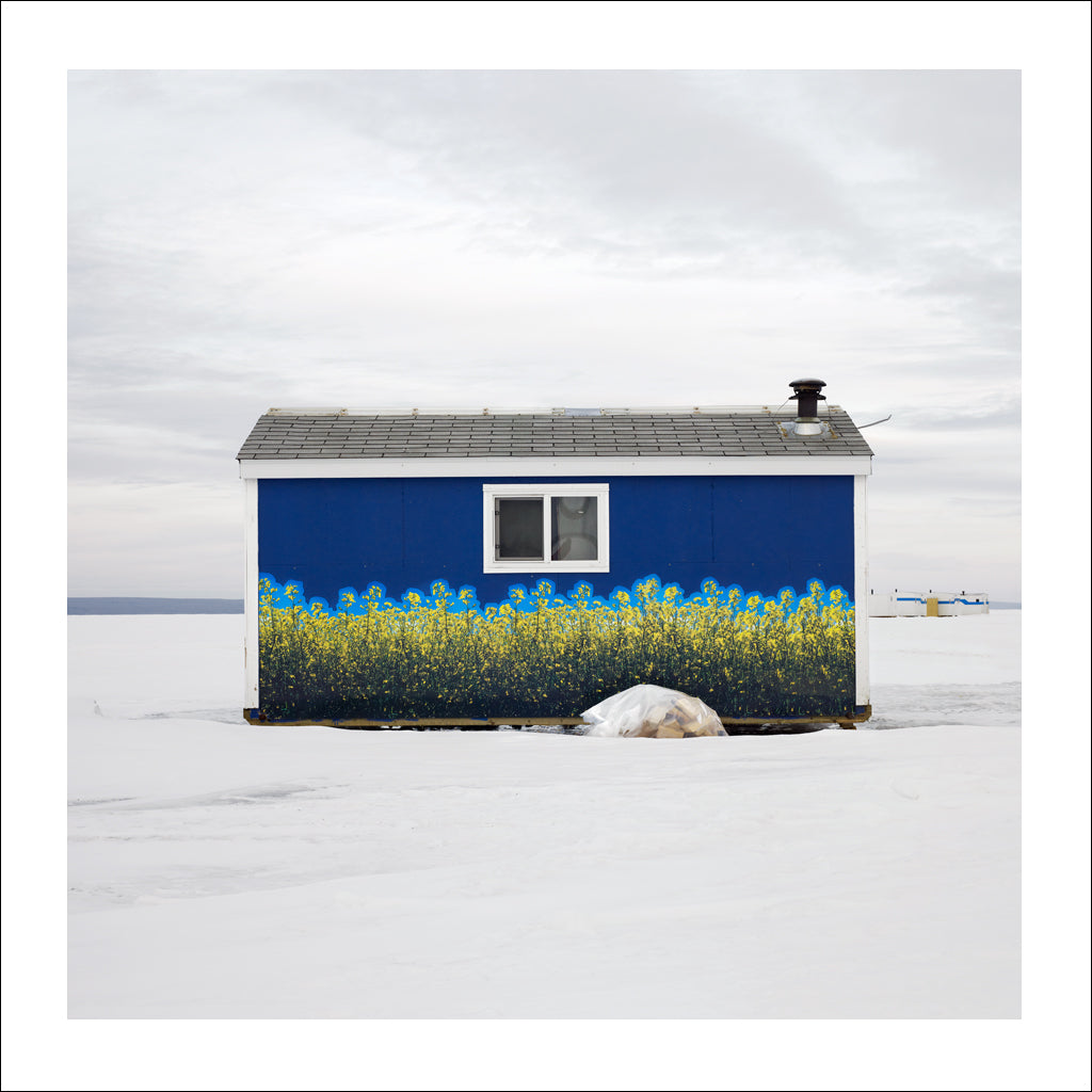 Ice Hut # 533, Joussard, Lesser Slave Lake, Alberta, Canada, 2011 | © 2007-2017 Richard Johnson Photography Inc. | richardjohnsongallery.com