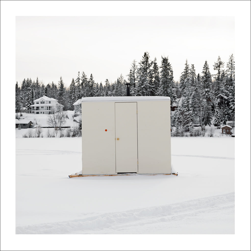 Ice Hut # 720-a, Quesnel, Dragon Lake, British Columbia, Canada, 2015 | © 2007-2016 Richard Johnson Photography Inc. | richardjohnsongallery.com