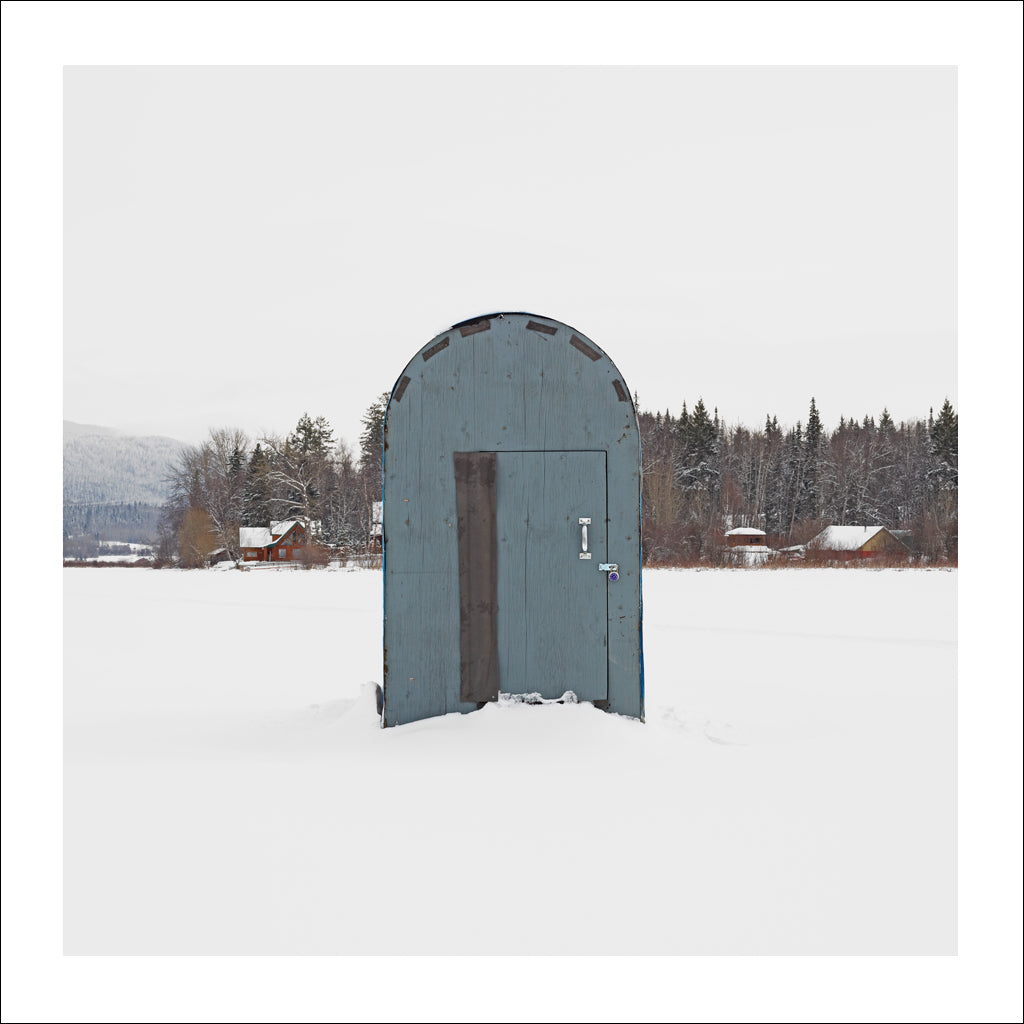 Ice Hut # 721, Quesnel, Dragon Lake, British Columbia, Canada, 2015 | © 2007-2016 Richard Johnson Photography Inc. | richardjohnsongallery.com