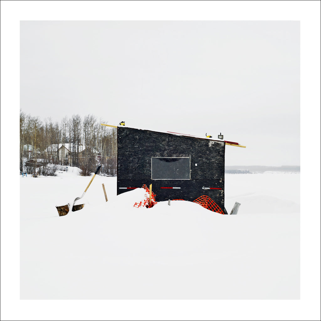 Ice Hut # 727-b, Fort St. John, Charlie Lake, British Columbia, Canada, 2015 | © 2007-2016 Richard Johnson Photography Inc. | richardjohnsongallery.com