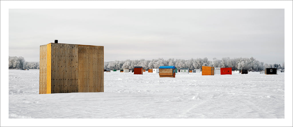 Ice Village # 22, Selkirk, Red River, Manitoba, Canada, 2010 | © 2007-2016 Richard Johnson Photography Inc. | richardjohnsongallery.com