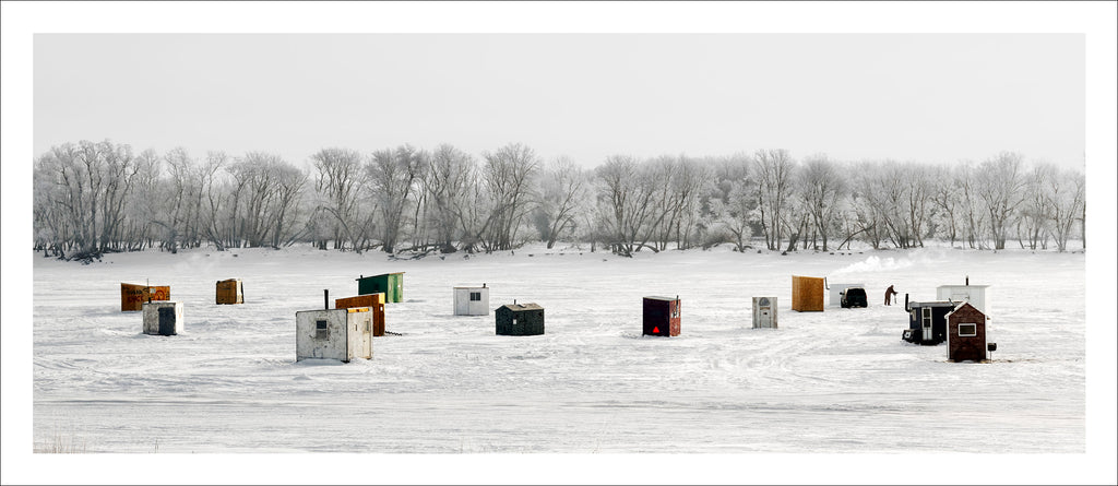 Ice Village # 26, Selkirk, Red River, Manitoba, Canada, 2010 | © 2007-2016 Richard Johnson Photography Inc. | richardjohnsongallery.com