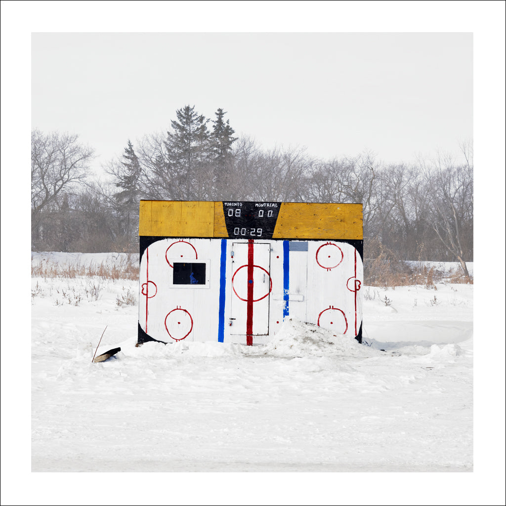 Ice Hut # 395, Lockport, Red River, Manitoba, Canada, 2010 | © 2007-2016 Richard Johnson Photography Inc. | richardjohnsongallery.com