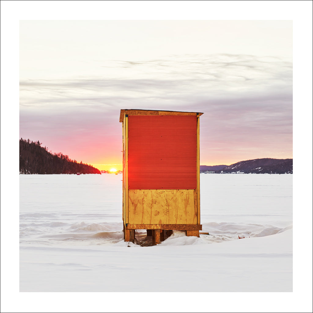 Ice Hut # 970-a, Wawa, Wawa Lake, Ontario, Canada, 2017 | © 2007-2016 Richard Johnson Photography Inc. | richardjohnsongallery.com