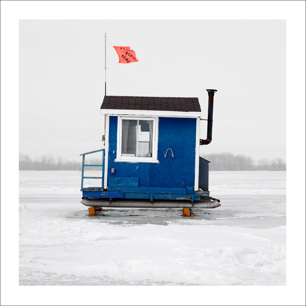 Ice Hut # 370b, Yamachiche, Lac Saint-Pierre, Quebec, Canada, 2010 | © 2007-2016 Richard Johnson Photography Inc. | richardjohnsongallery.com