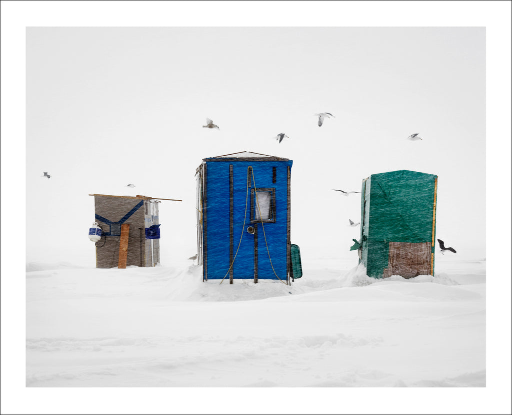 Ice Huts Storm # 5, McLeods, Chaleurs Bay, New Brunswick, Canada, 2012 | © 2007-2016 Richard Johnson Photography Inc. | richardjohnsongallery.com