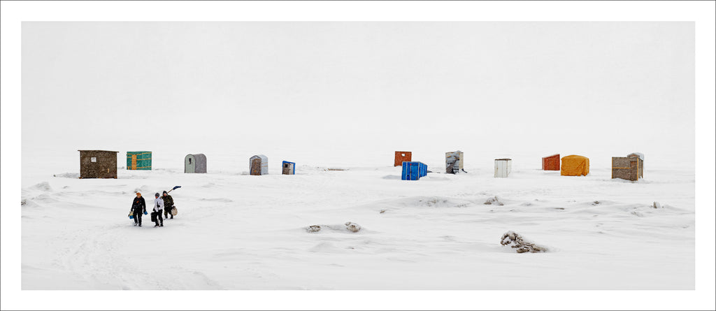 Ice Huts Storm # 9, McLeods, Chaleurs Bay, New Brunswick, Canada, 2012 | © 2007-2016 Richard Johnson Photography Inc. | richardjohnsongallery.com